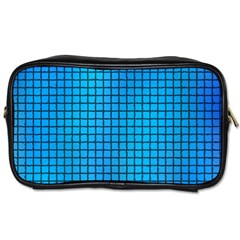 Seamless Blue Tiles Pattern Toiletries Bags