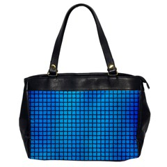 Seamless Blue Tiles Pattern Office Handbags