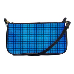 Seamless Blue Tiles Pattern Shoulder Clutch Bags