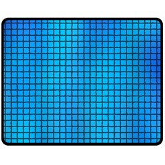 Seamless Blue Tiles Pattern Fleece Blanket (medium)
