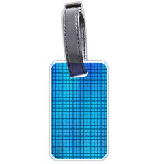 Seamless Blue Tiles Pattern Luggage Tags (one Side)