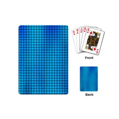 Seamless Blue Tiles Pattern Playing Cards (mini)