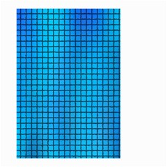 Seamless Blue Tiles Pattern Small Garden Flag (two Sides)