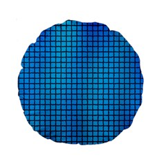 Seamless Blue Tiles Pattern Standard 15  Premium Round Cushions