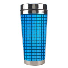 Seamless Blue Tiles Pattern Stainless Steel Travel Tumblers