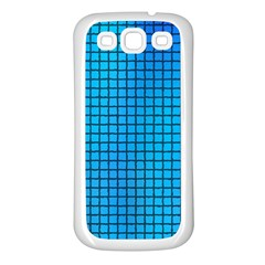 Seamless Blue Tiles Pattern Samsung Galaxy S3 Back Case (white)