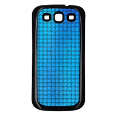 Seamless Blue Tiles Pattern Samsung Galaxy S3 Back Case (black)