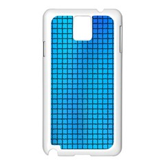 Seamless Blue Tiles Pattern Samsung Galaxy Note 3 N9005 Case (white)