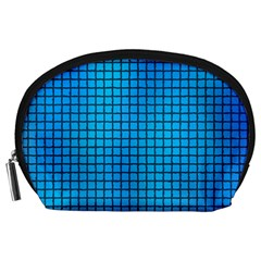 Seamless Blue Tiles Pattern Accessory Pouches (large)