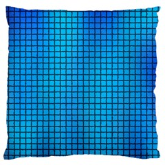 Seamless Blue Tiles Pattern Large Flano Cushion Case (one Side)