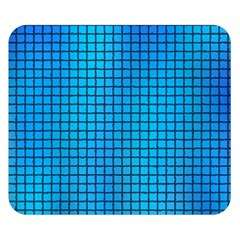 Seamless Blue Tiles Pattern Double Sided Flano Blanket (small)
