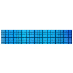 Seamless Blue Tiles Pattern Flano Scarf (small)