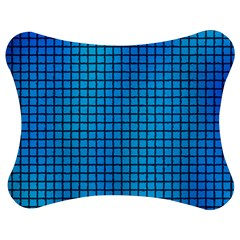 Seamless Blue Tiles Pattern Jigsaw Puzzle Photo Stand (bow)