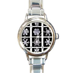 Snowflakes Exemplifies Emergence In A Physical System Round Italian Charm Watch