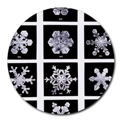 Snowflakes Exemplifies Emergence In A Physical System Round Mousepads