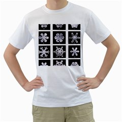 Snowflakes Exemplifies Emergence In A Physical System Men s T Shirt (white) (two Sided)