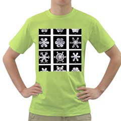 Snowflakes Exemplifies Emergence In A Physical System Green T Shirt