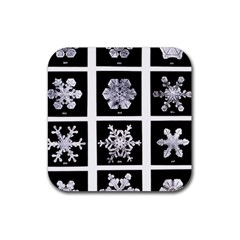 Snowflakes Exemplifies Emergence In A Physical System Rubber Coaster (square)
