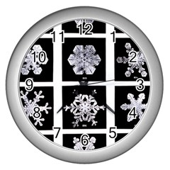 Snowflakes Exemplifies Emergence In A Physical System Wall Clocks (silver)
