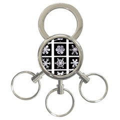 Snowflakes Exemplifies Emergence In A Physical System 3 Ring Key Chains