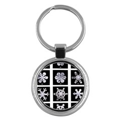 Snowflakes Exemplifies Emergence In A Physical System Key Chains (Round)