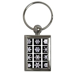 Snowflakes Exemplifies Emergence In A Physical System Key Chains (rectangle)