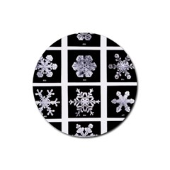 Snowflakes Exemplifies Emergence In A Physical System Rubber Coaster (round)