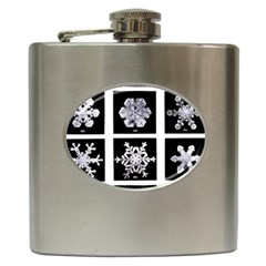 Snowflakes Exemplifies Emergence In A Physical System Hip Flask (6 oz)