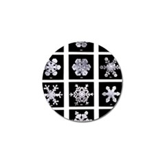 Snowflakes Exemplifies Emergence In A Physical System Golf Ball Marker (4 Pack)