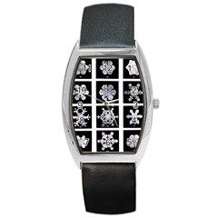 Snowflakes Exemplifies Emergence In A Physical System Barrel Style Metal Watch