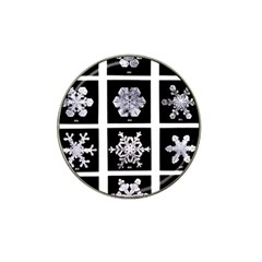 Snowflakes Exemplifies Emergence In A Physical System Hat Clip Ball Marker (10 Pack)