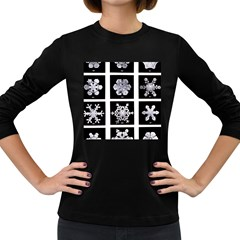 Snowflakes Exemplifies Emergence In A Physical System Women s Long Sleeve Dark T Shirts
