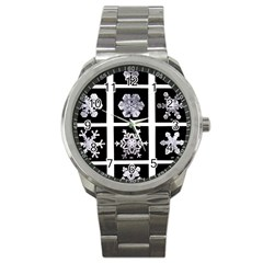 Snowflakes Exemplifies Emergence In A Physical System Sport Metal Watch