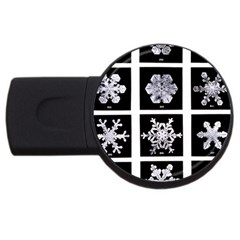 Snowflakes Exemplifies Emergence In A Physical System Usb Flash Drive Round (4 Gb)