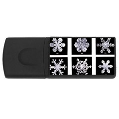 Snowflakes Exemplifies Emergence In A Physical System Usb Flash Drive Rectangular (4 Gb)