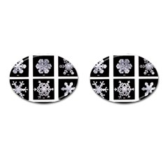 Snowflakes Exemplifies Emergence In A Physical System Cufflinks (oval)