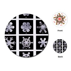 Snowflakes Exemplifies Emergence In A Physical System Playing Cards (round)