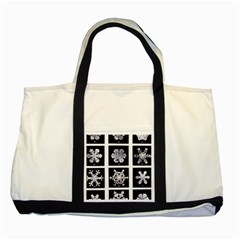 Snowflakes Exemplifies Emergence In A Physical System Two Tone Tote Bag