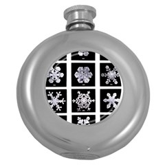 Snowflakes Exemplifies Emergence In A Physical System Round Hip Flask (5 Oz)