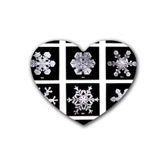 Snowflakes Exemplifies Emergence In A Physical System Rubber Coaster (heart)