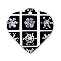 Snowflakes Exemplifies Emergence In A Physical System Dog Tag Heart (one Side)