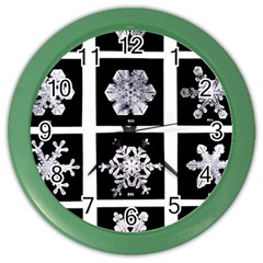 Snowflakes Exemplifies Emergence In A Physical System Color Wall Clocks