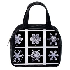 Snowflakes Exemplifies Emergence In A Physical System Classic Handbags (one Side)