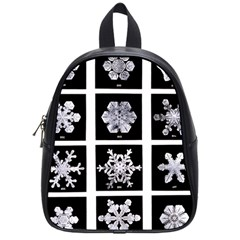 Snowflakes Exemplifies Emergence In A Physical System School Bags (small)