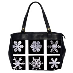 Snowflakes Exemplifies Emergence In A Physical System Office Handbags (2 Sides)