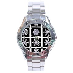 Snowflakes Exemplifies Emergence In A Physical System Stainless Steel Analogue Watch