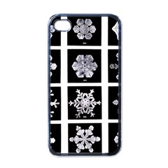 Snowflakes Exemplifies Emergence In A Physical System Apple Iphone 4 Case (black)