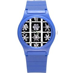 Snowflakes Exemplifies Emergence In A Physical System Round Plastic Sport Watch (s)