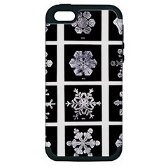 Snowflakes Exemplifies Emergence In A Physical System Apple Iphone 5 Hardshell Case (pc+silicone)