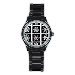 Snowflakes Exemplifies Emergence In A Physical System Stainless Steel Round Watch